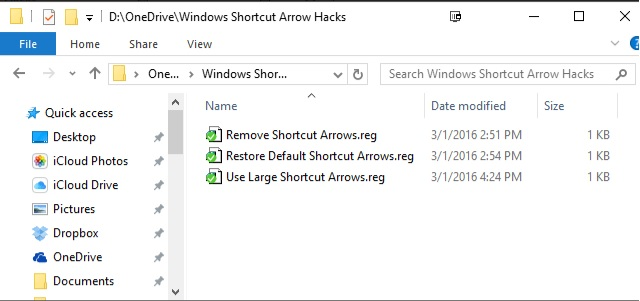 Windows Shortcut Arrow Hacks